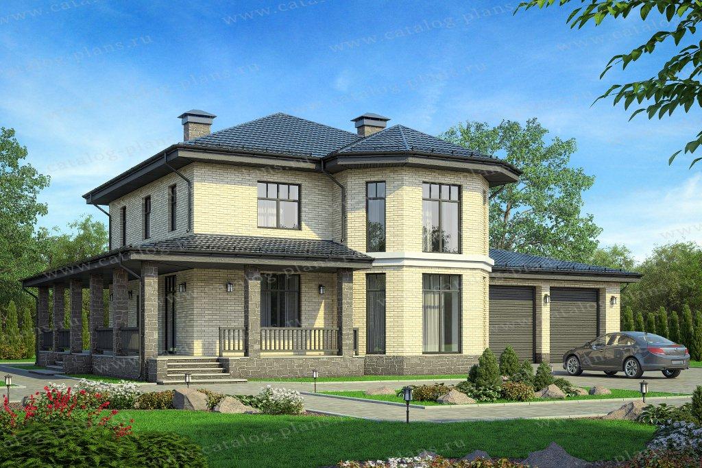 Проект жилой дом #59-92AL материал - газобетон, стиль