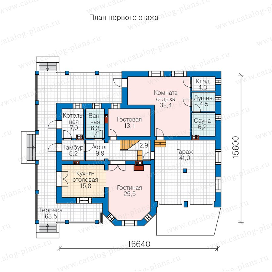 План 1-этажа проекта 59-92AL