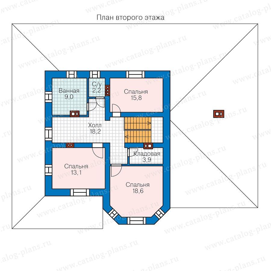 План 2-этажа проекта 59-92AL