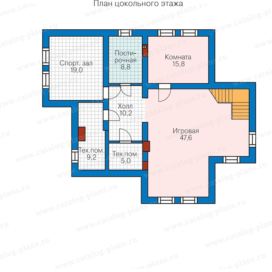 План 1-этажа проекта 58-36C