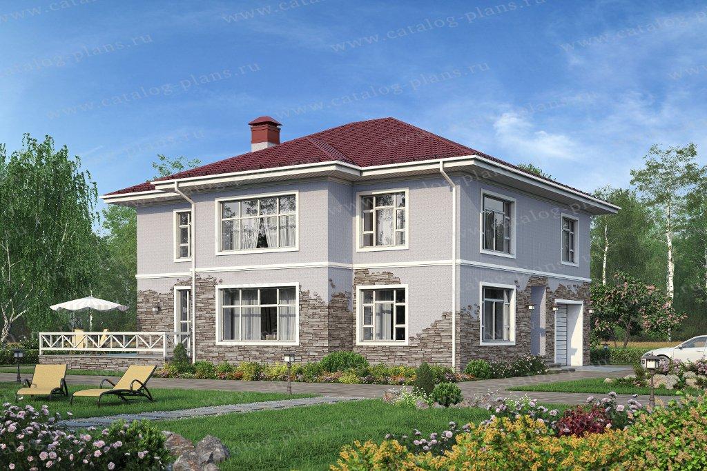 Проект жилой дом #40-21 материал - кирпич, стиль европейский