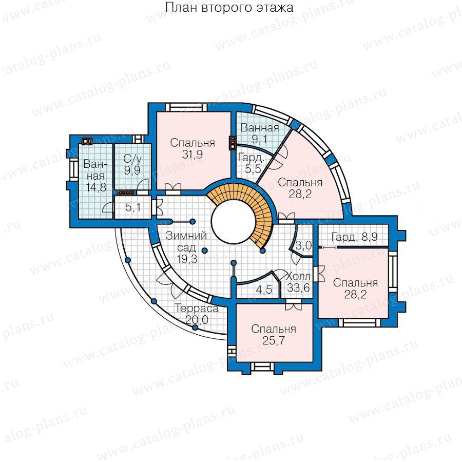 План 2-этажа проекта 40-89