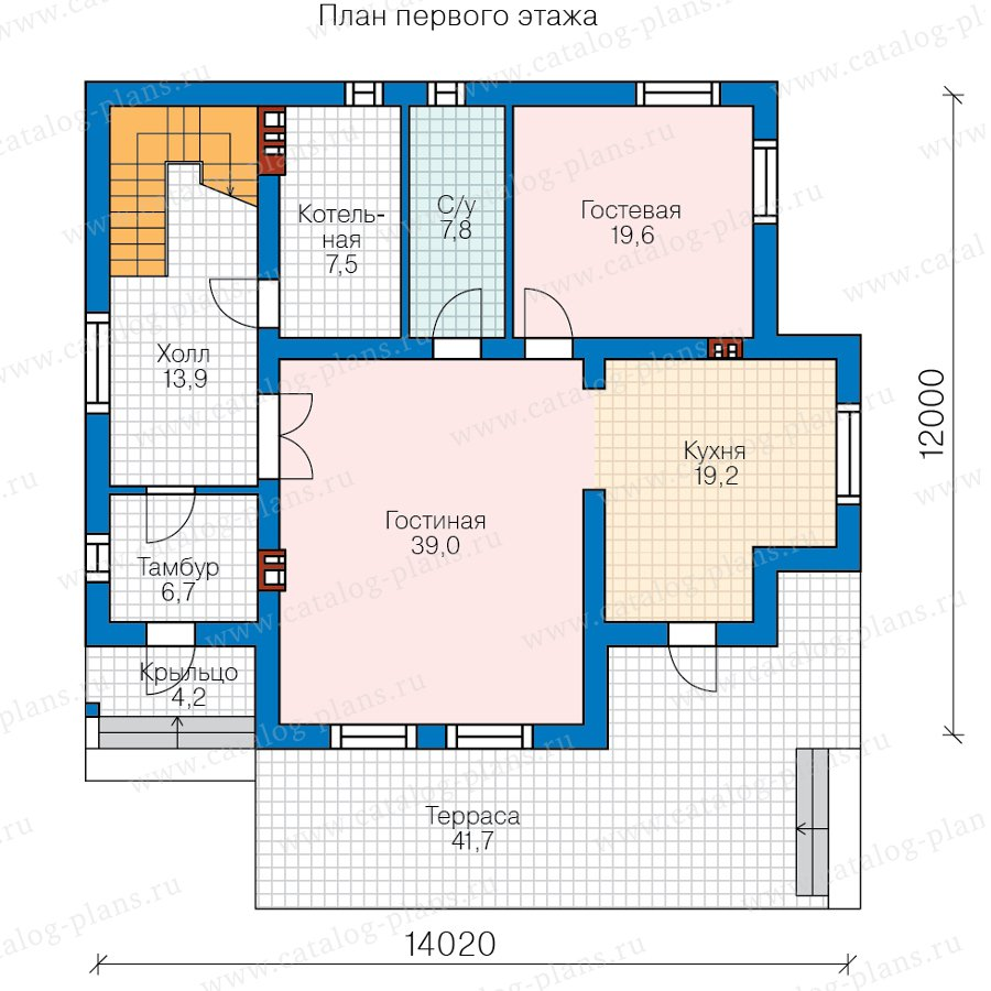 План 1-этажа проекта 58-55A