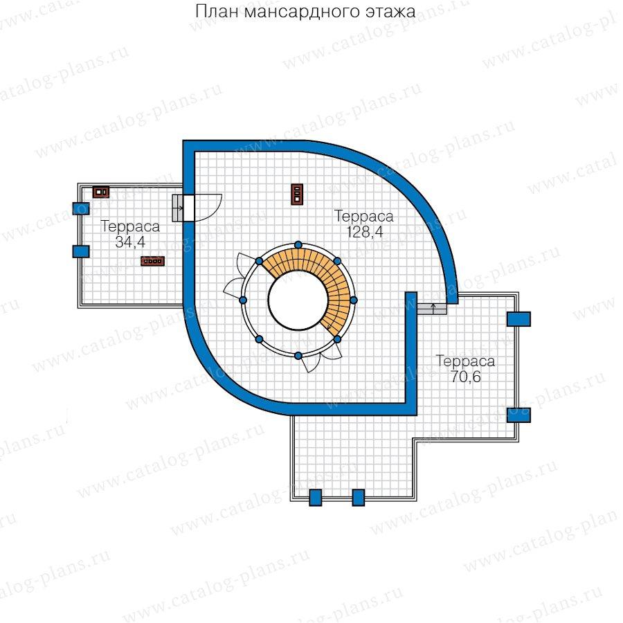 План 3-этажа проекта 40-89