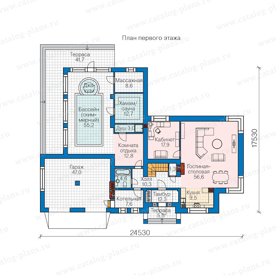 План 1-этажа проекта 40-88L