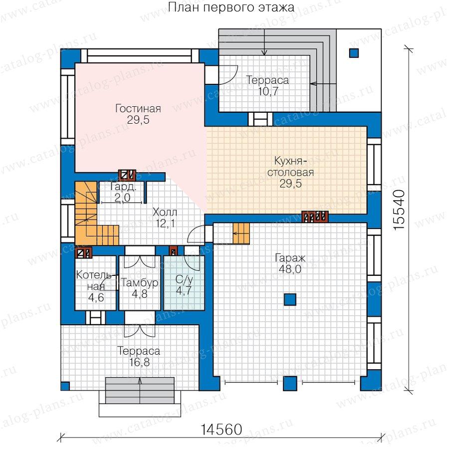 План 1-этажа проекта 40-87