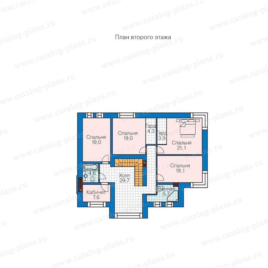 План 2-этажа проекта 40-88L