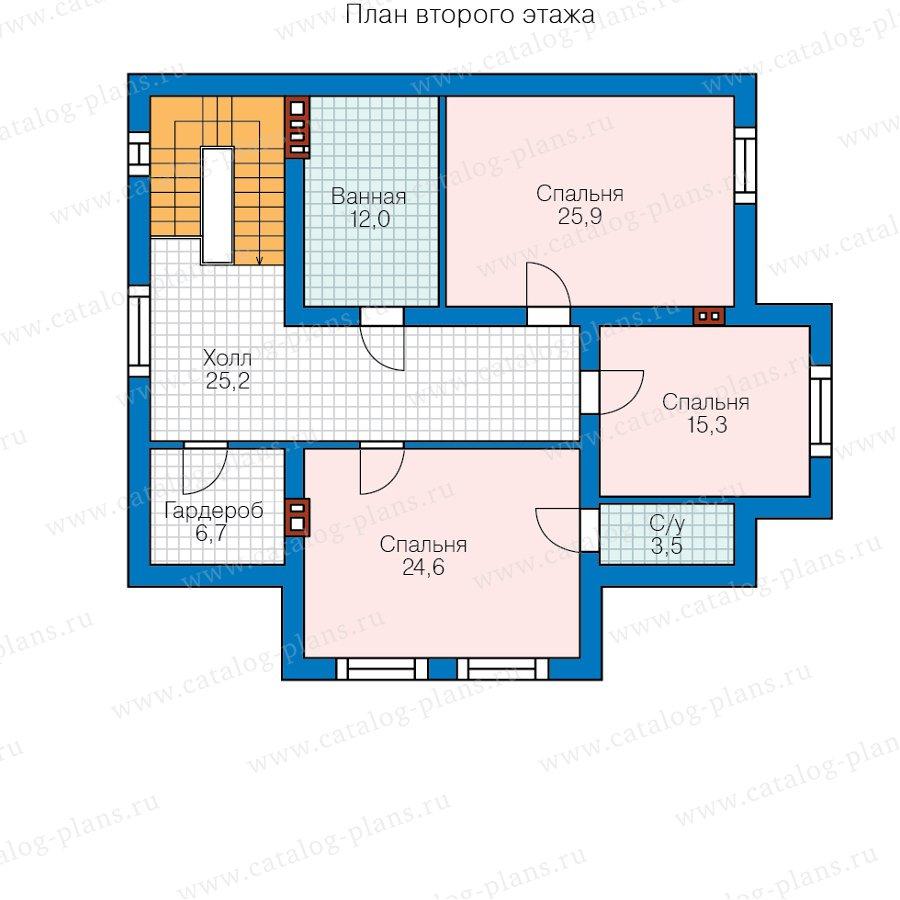 План 2-этажа проекта 58-55A