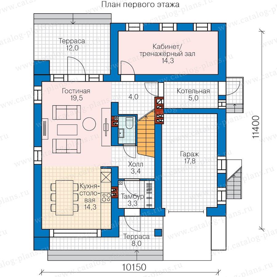 План 1-этажа проекта 62-07