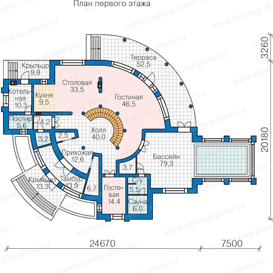 План 1-этажа проекта 40-89