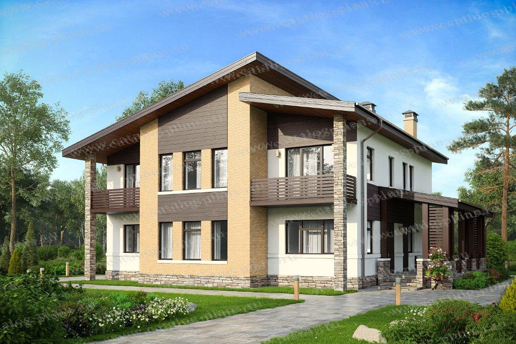 Проект жилой дом #40-19 материал - кирпич, стиль современный