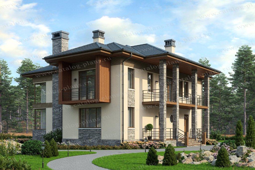Проект жилой дом #57-18 материал - газобетон, стиль современный