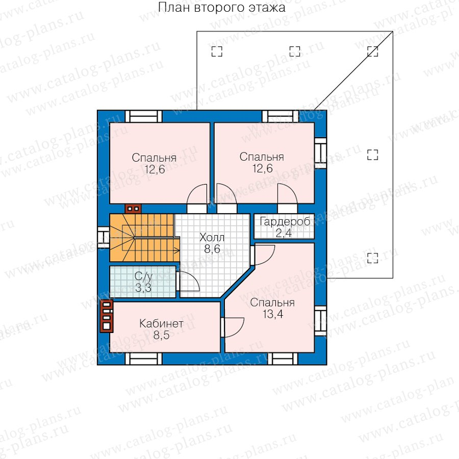 План 2-этажа проекта 58-96