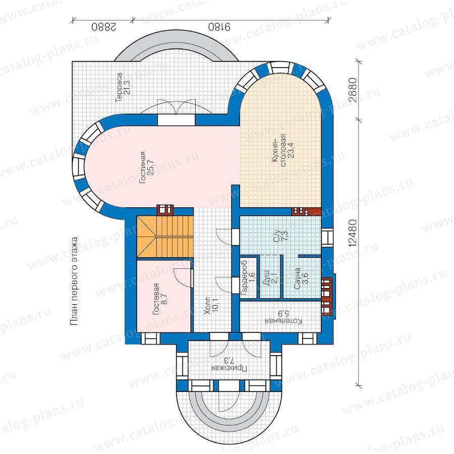План 1-этажа проекта 40-70L