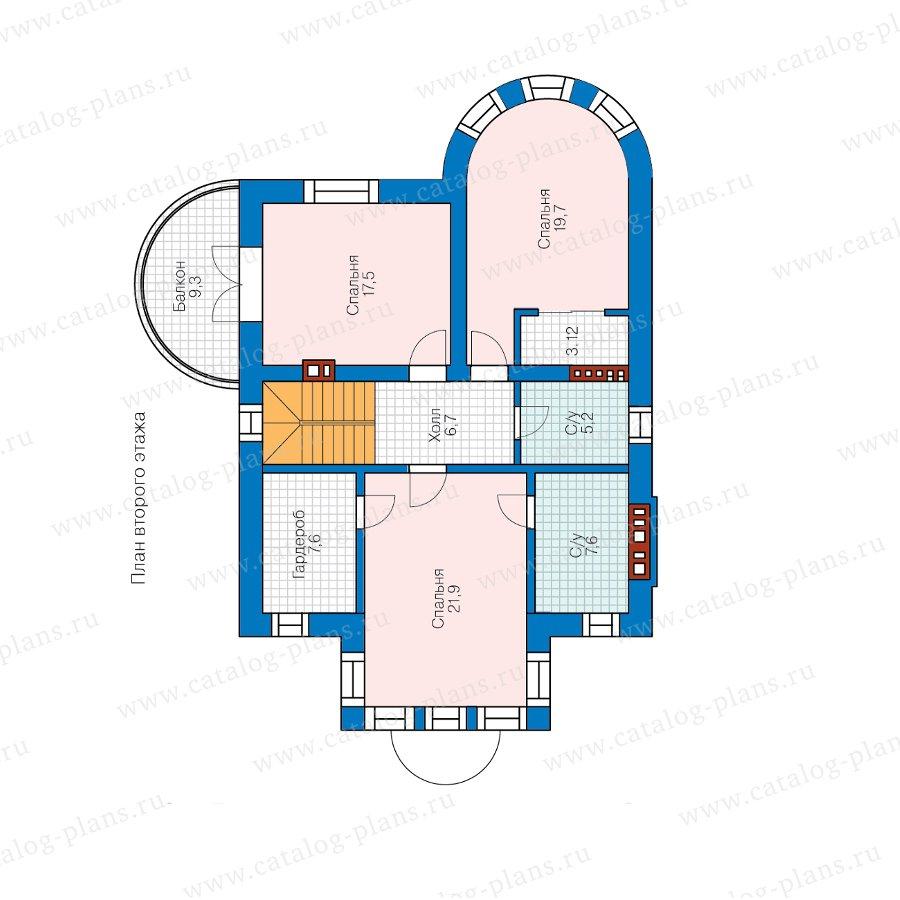 План 2-этажа проекта 40-70L