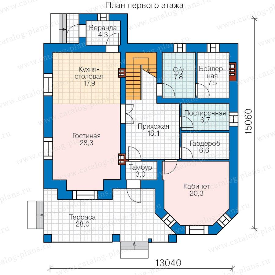 План 1-этажа проекта 40-11Z