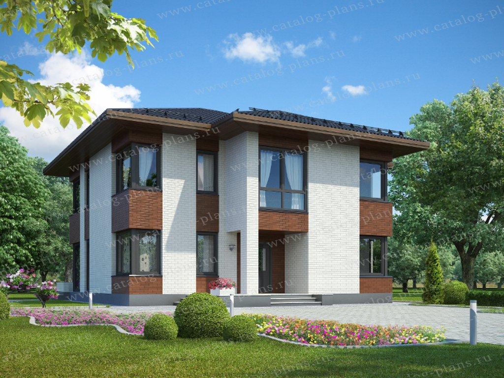 Проект жилой дом #61-11 материал - газобетон, стиль