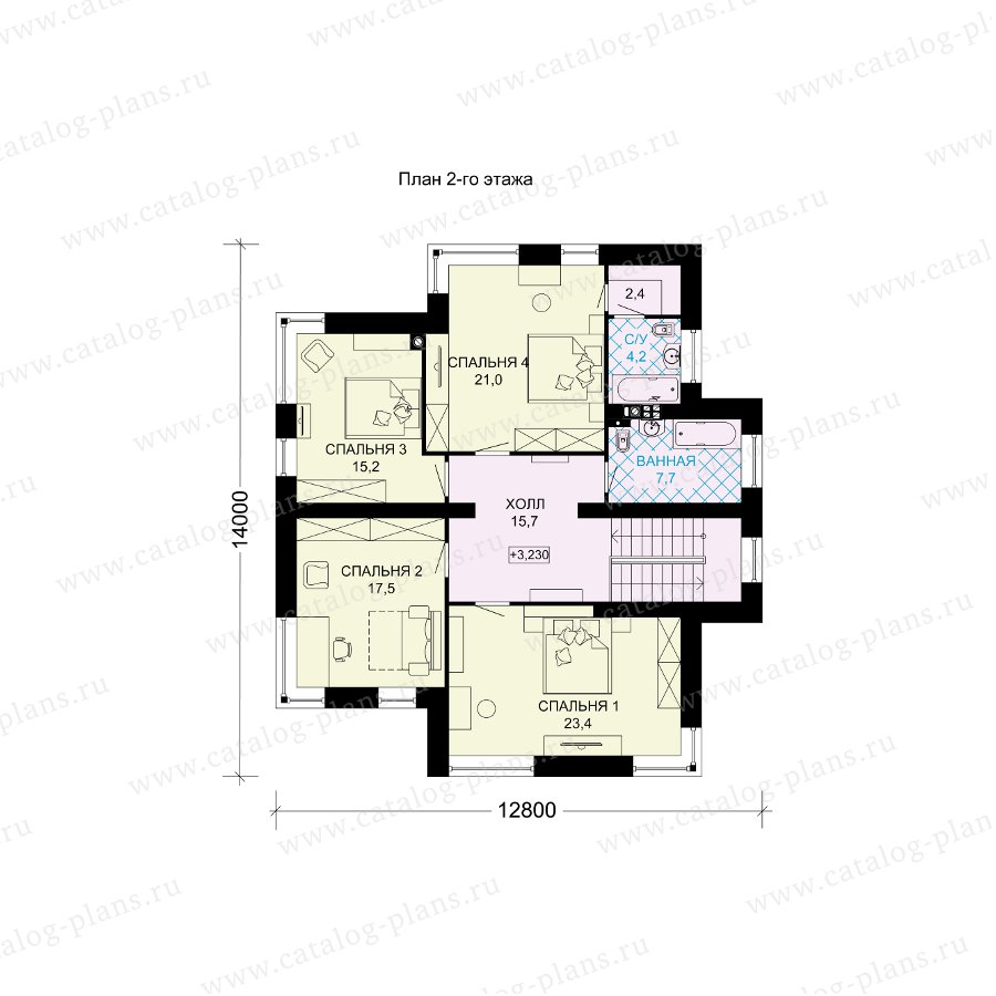 План 2-этажа проекта 61-11