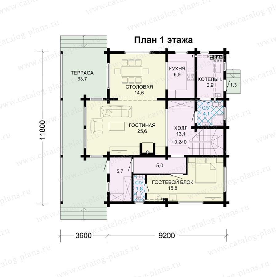 План 1-этажа проекта 13-78