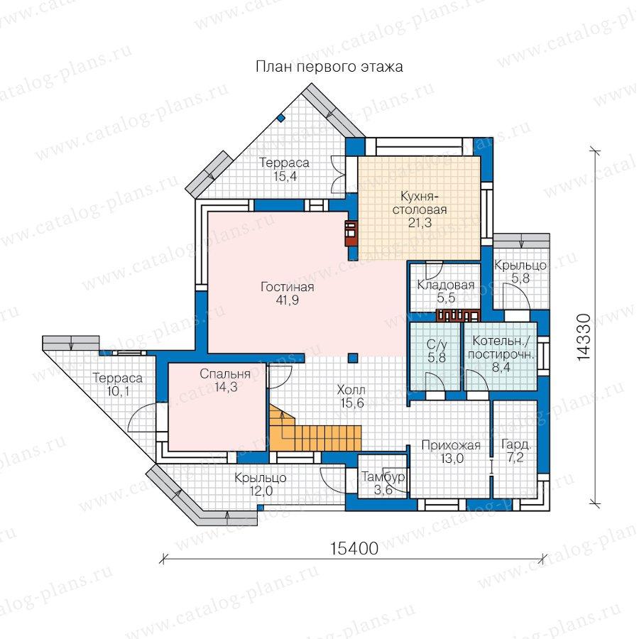 План 1-этажа проекта 40-94