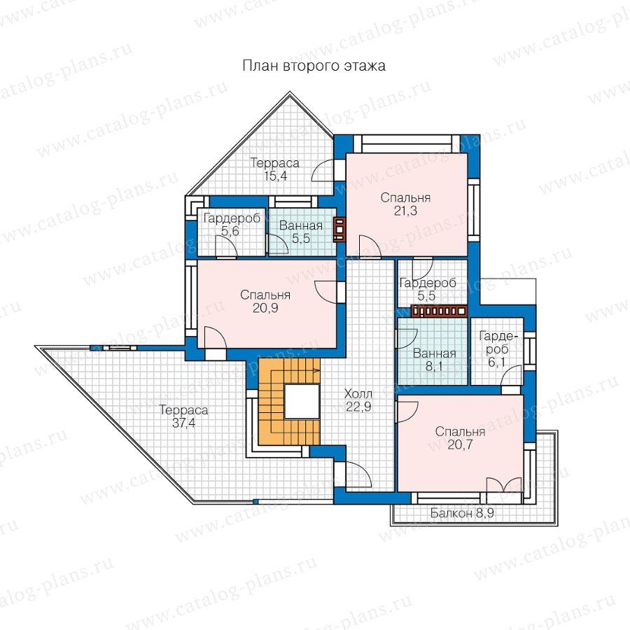 План 2-этажа проекта 40-94