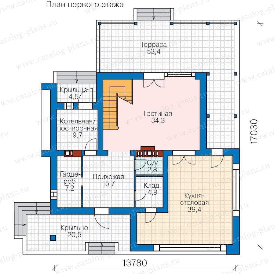 План 1-этажа проекта 40-93BBricks