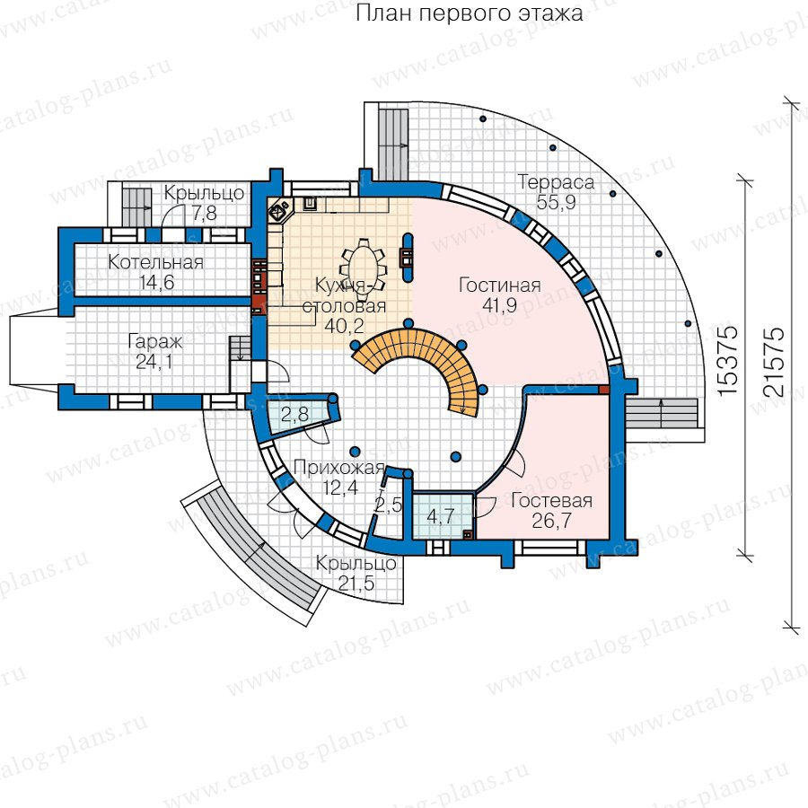 План 1-этажа проекта 40-89A