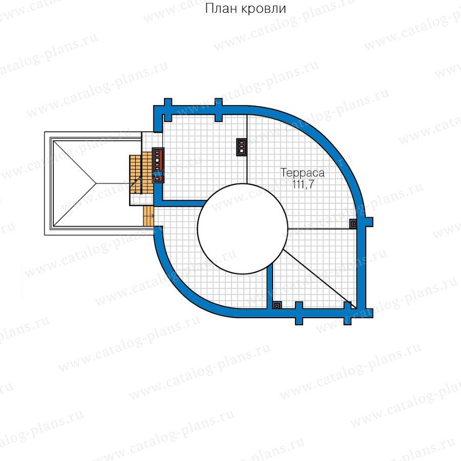 План 3-этажа проекта 40-89A