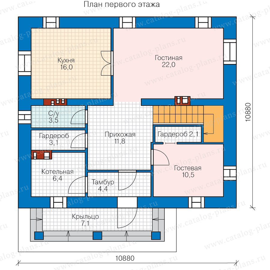 План 1-этажа проекта 57-05PL