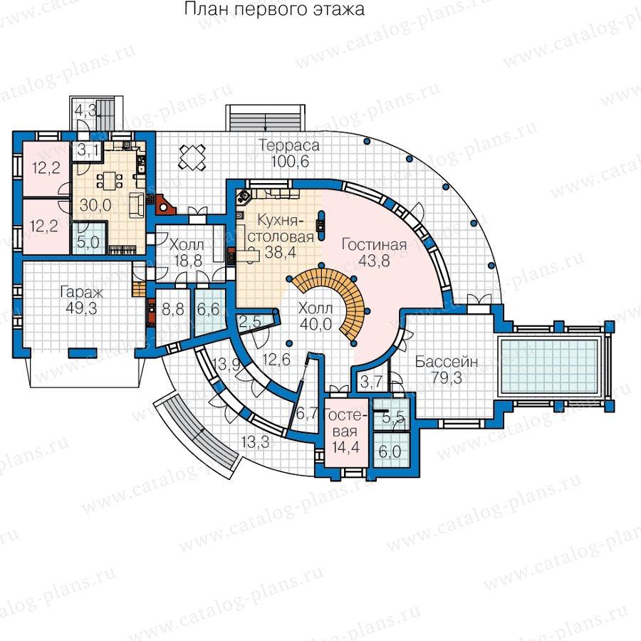 План 1-этажа проекта 40-89B