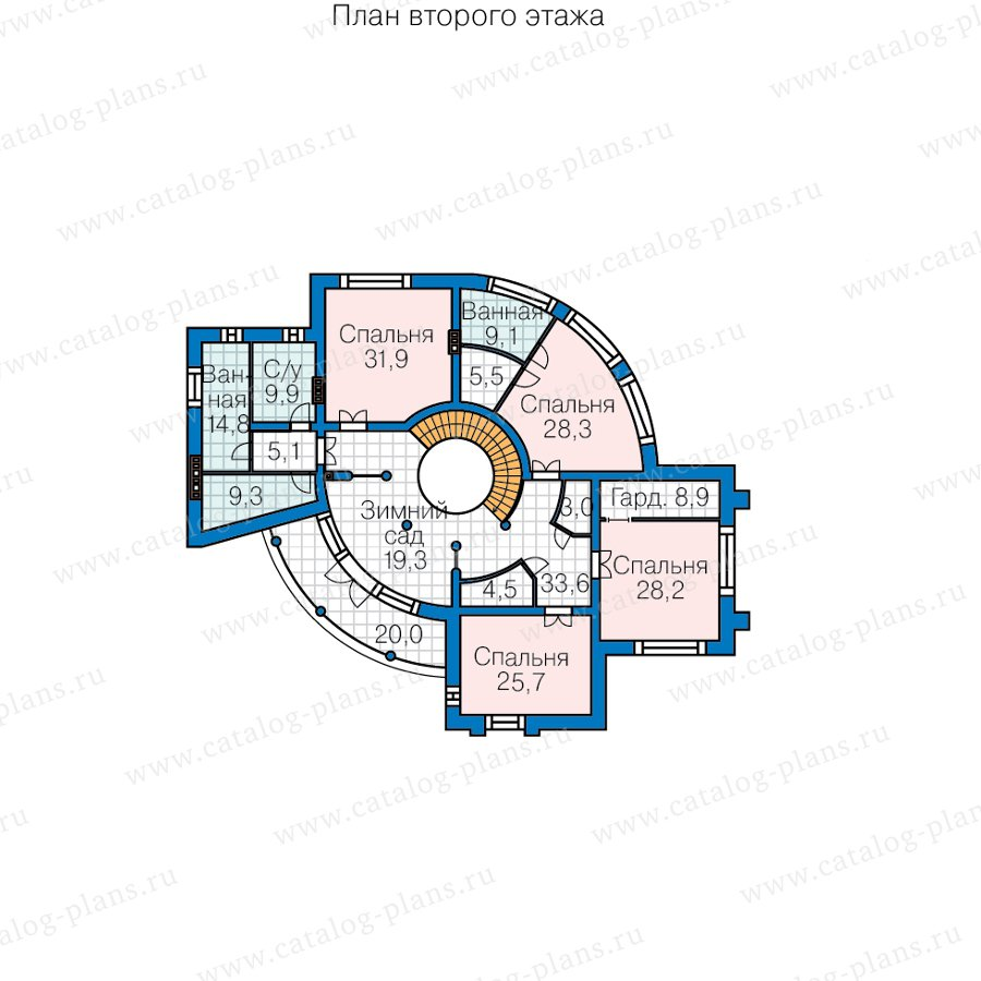 План 2-этажа проекта 40-89B