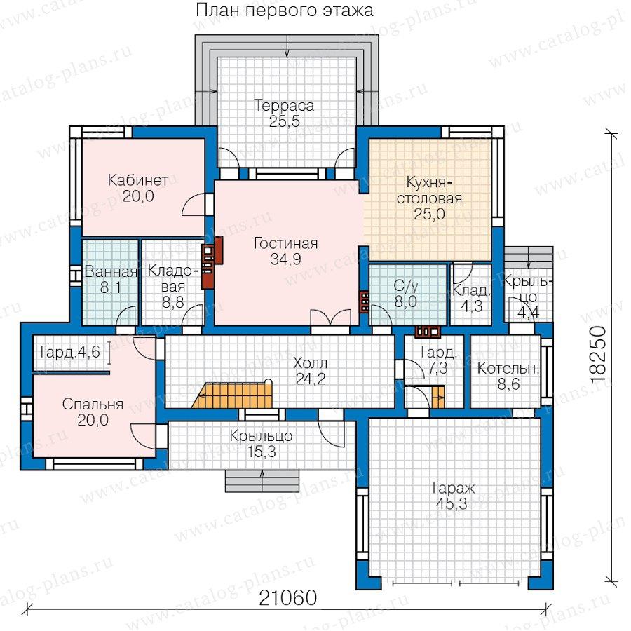 План 1-этажа проекта 40-95