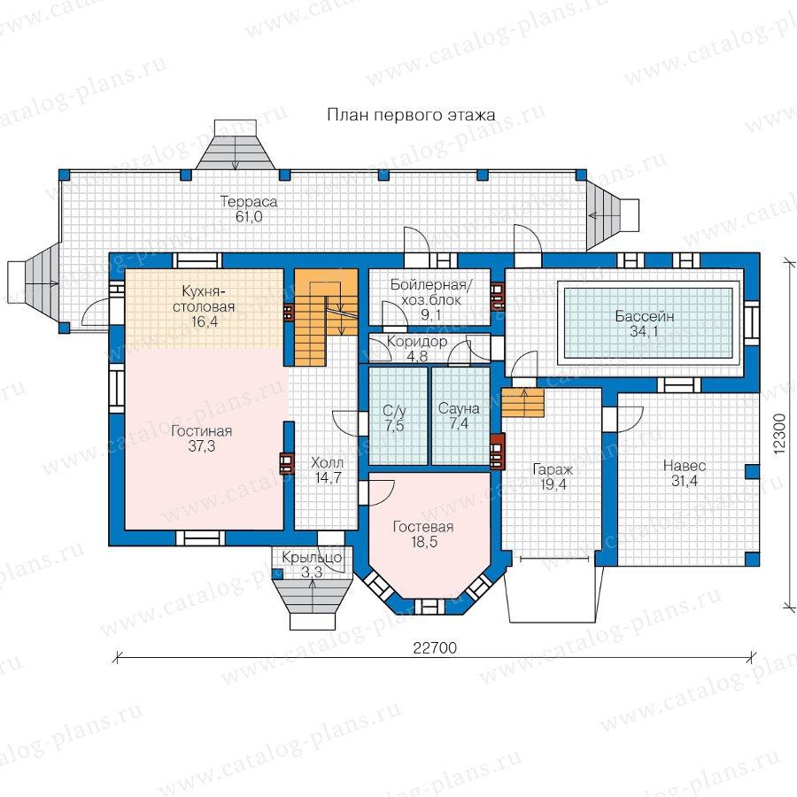 План 2-этажа проекта 48-29FL