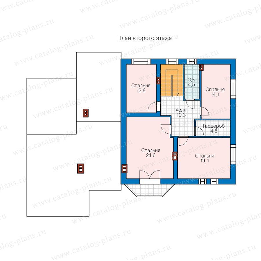 План 2-этажа проекта 40-23AG