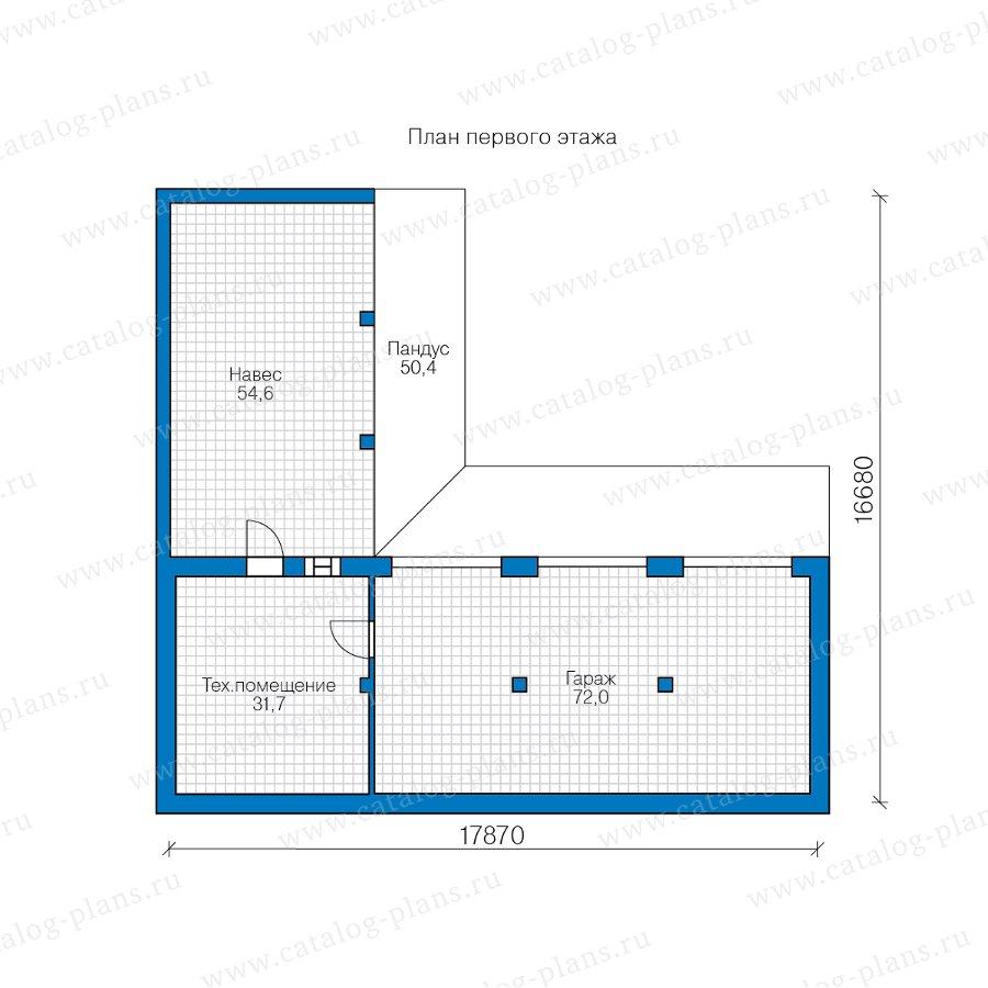 План 1-этажа проекта 90-53