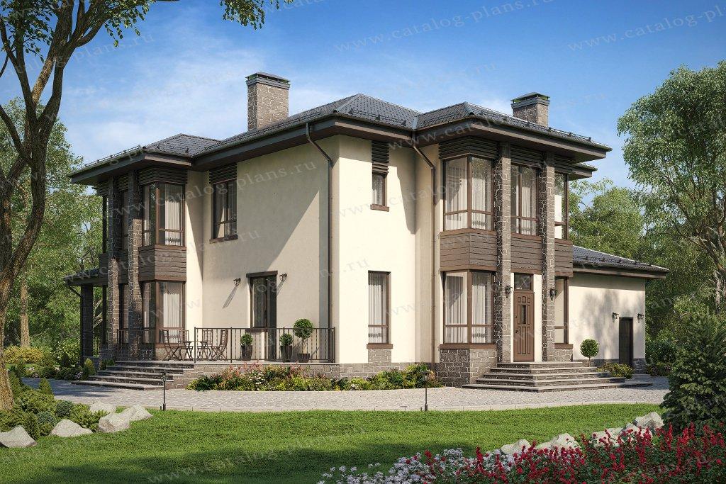 Проект жилой дом #58-87B материал - газобетон, стиль