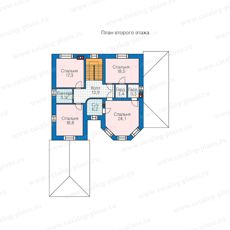 План 3-этажа проекта 58-43AL