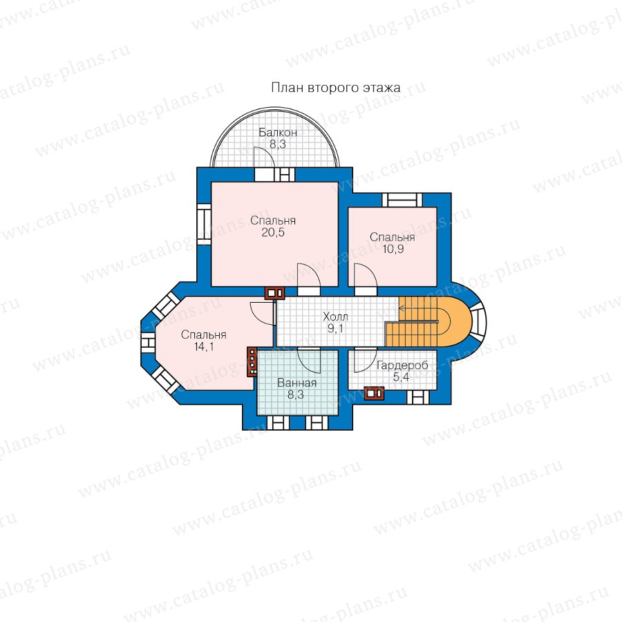 План 2-этажа проекта 40-75AGL
