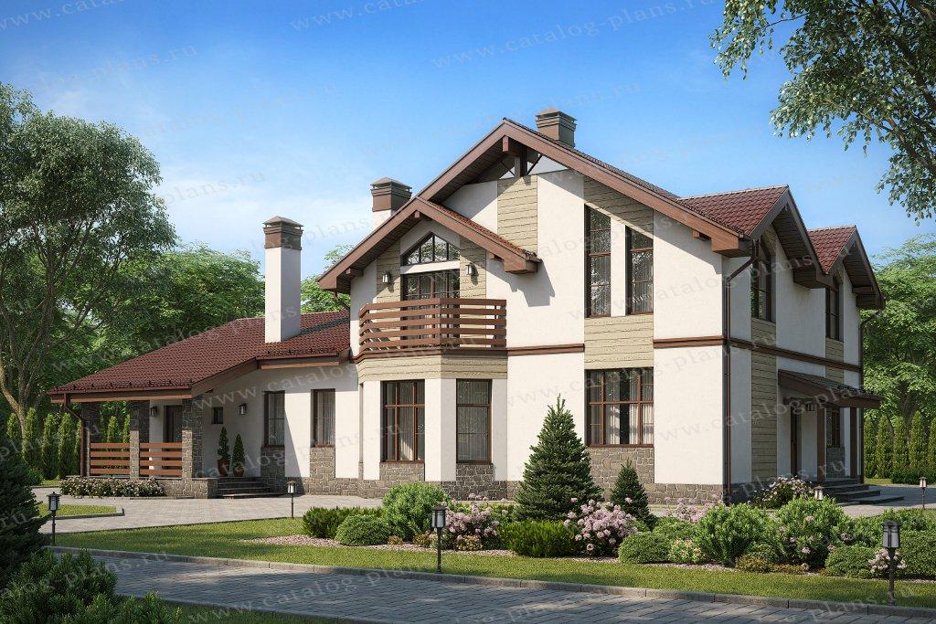 Проект жилой дом #40-23AG материал - газобетон, стиль современный