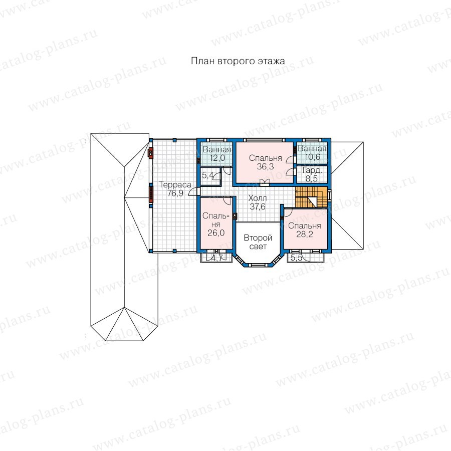 План 2-этажа проекта 62-10