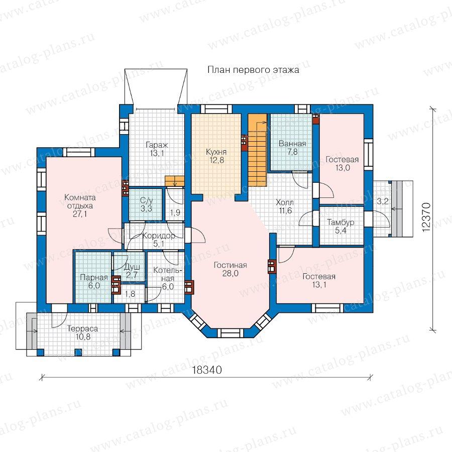 План 1-этажа проекта 40-23AG