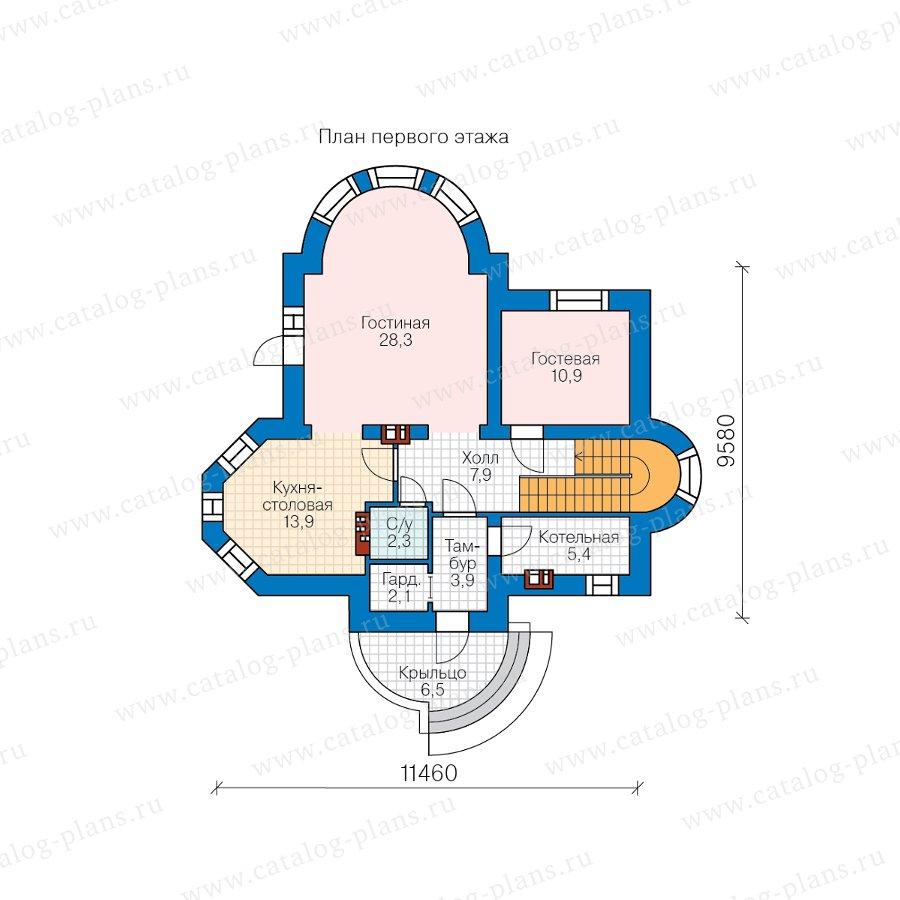 План 1-этажа проекта 40-75AGL