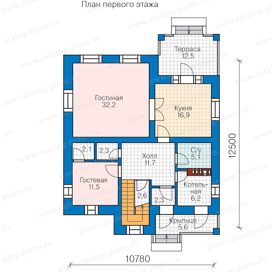 План 1-этажа проекта 57-20DL