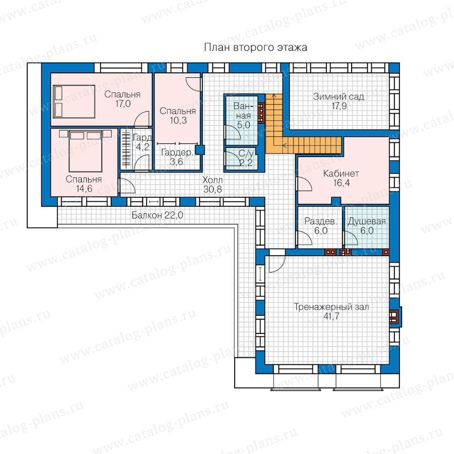 План 2-этажа проекта 40-97L