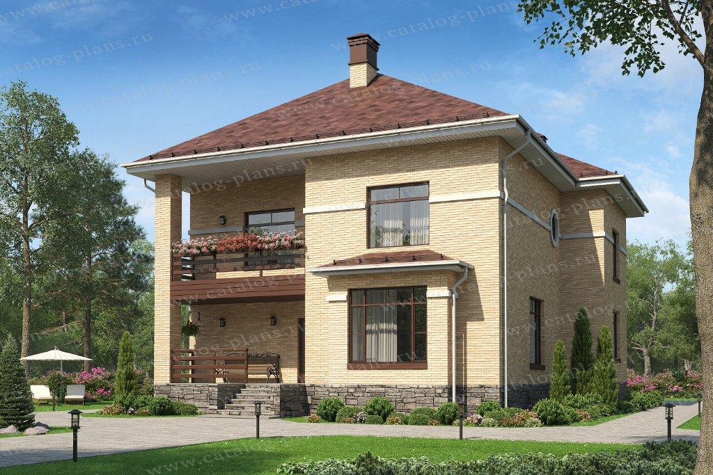Проект жилой дом #57-39HL материал - газобетон      , стиль современный