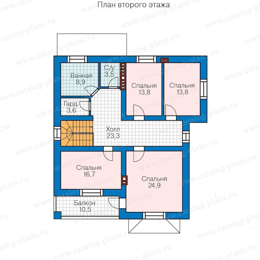 План 3-этажа проекта 57-39HL