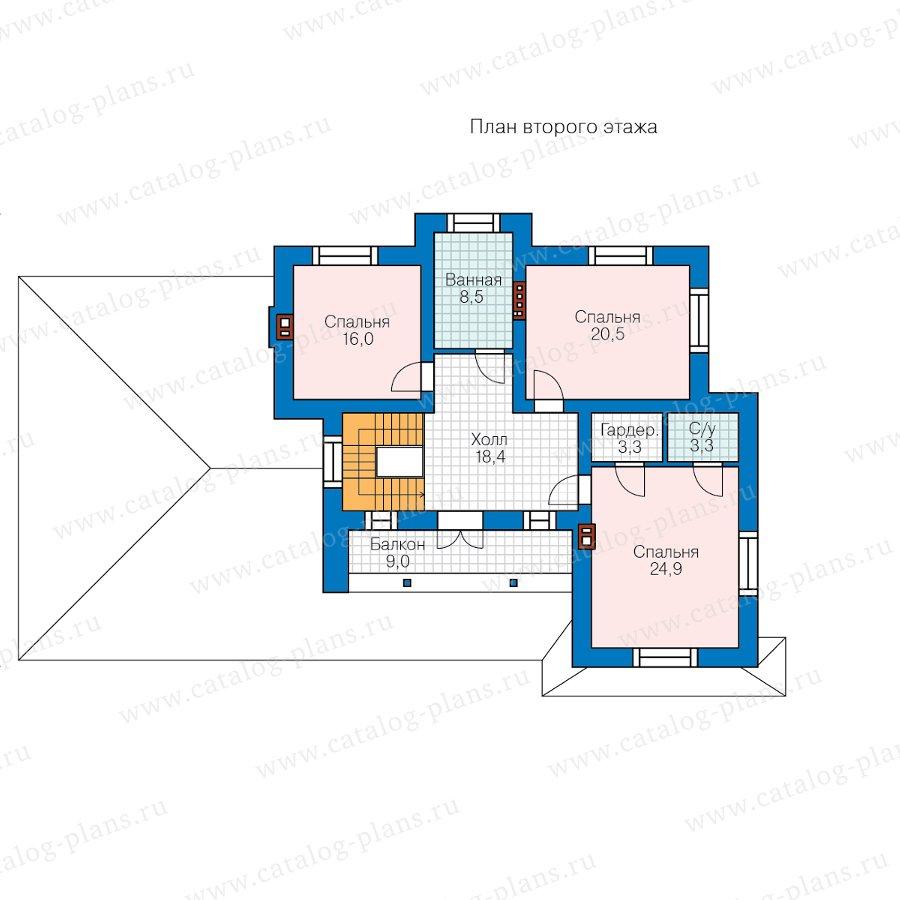 План 2-этажа проекта 58-10AL