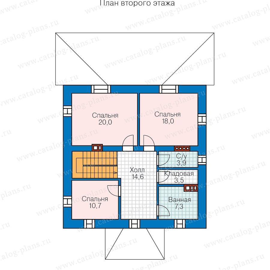 План 2-этажа проекта 57-05HL