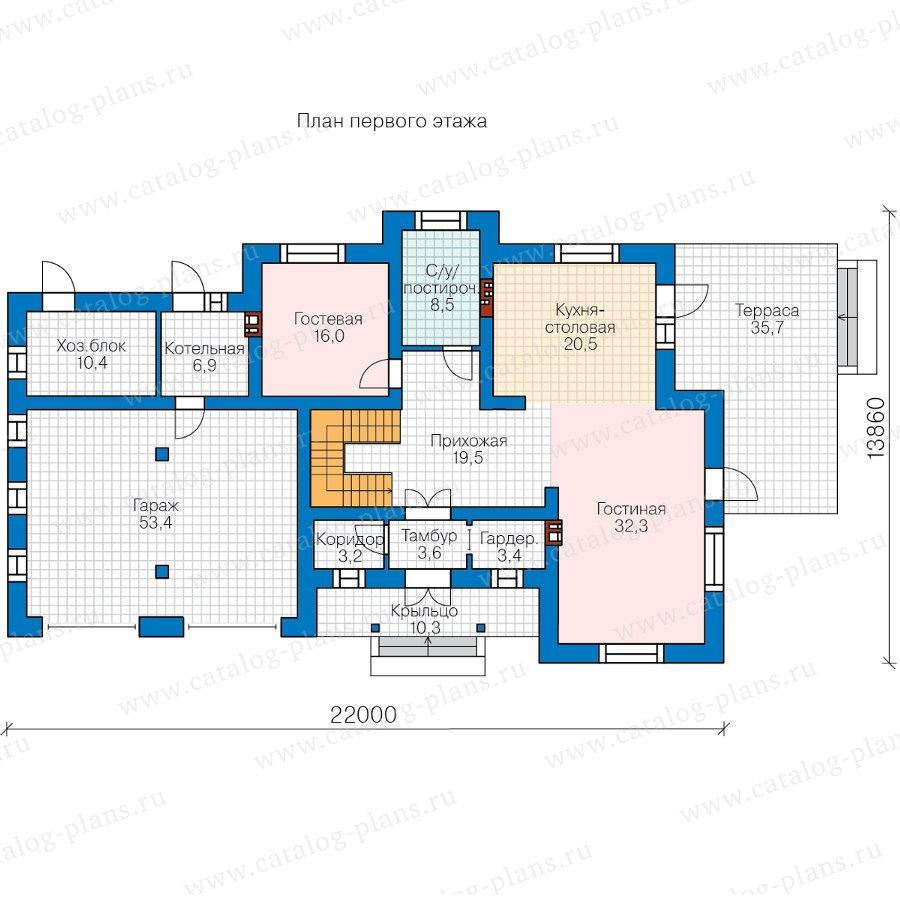 План 1-этажа проекта 58-10AL
