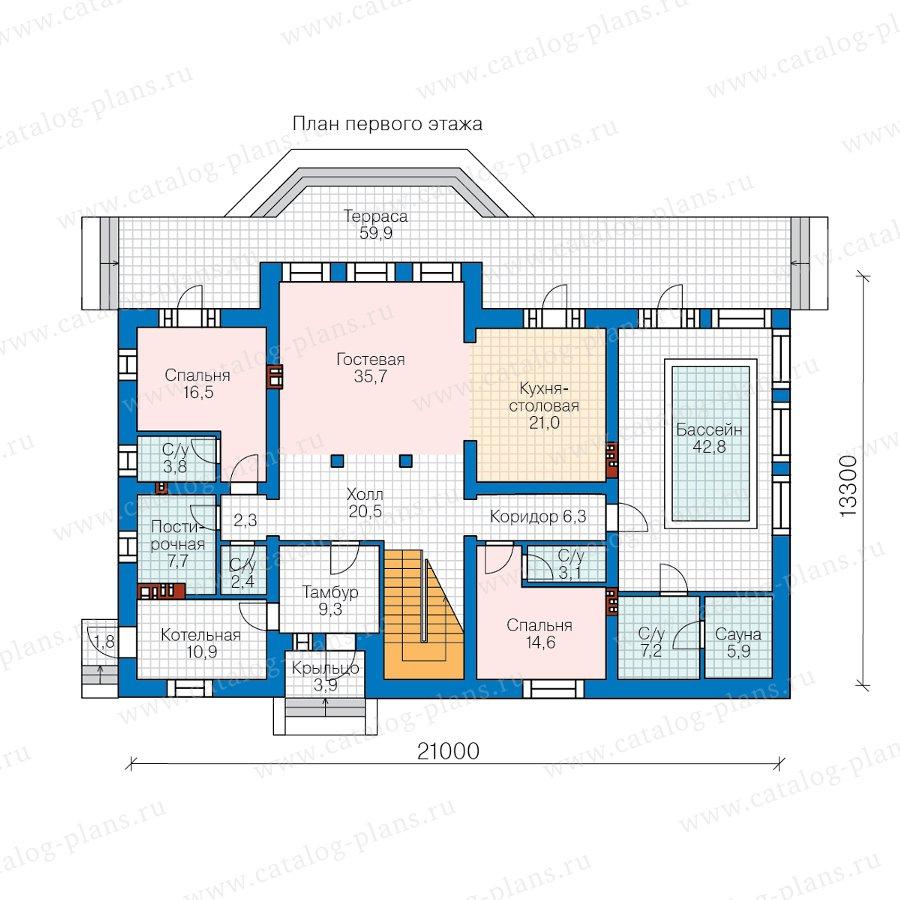 План 1-этажа проекта 62-11